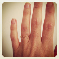 Infinity ring or Infinity knuckle ring