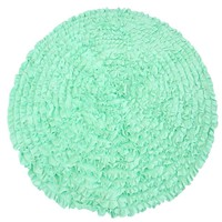 5 Ft Round Mint Ruffle Rug - Nursery Rugs