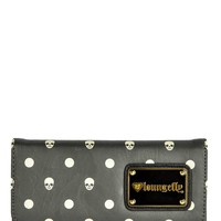 Grey Skull With Dots Wallet