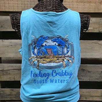Backwoods South Waters Feeling Crabby Crab Unisex Comfort Colors T Shirt Tank Top