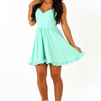 Ready For My Closeup Dress: Mint