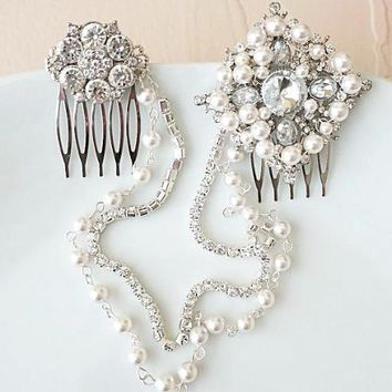 Bridal Headpiece Jewelry Wedding Tiaras and Headpieces SESSUE