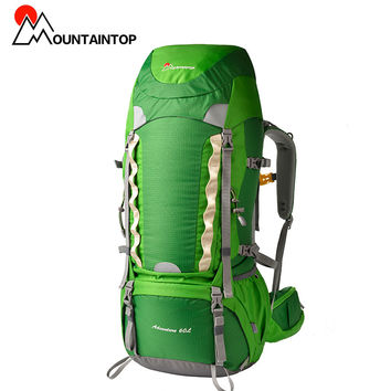 60l Internal Frame Long Haul Climbing Bag CR Carrying System Terylene Material Unisex Travel Camping Outdoor Sport Backpack