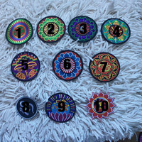 Iron on Boho patterned embroidered patch / patches