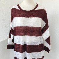 SANDRA LIGHTWEIGHT SWEATER- BURGUNDY