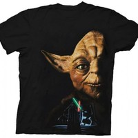 Star Wars Return of the Jedi Last Battle Yoda Black Adult T-Shirt  - Step Brothers - | TV Store Online