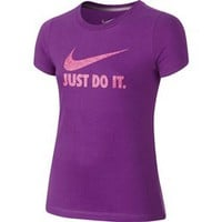 Academy - Nike Girls' Just Do It Swoosh Athletic T-shirt