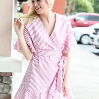 Go + Wrap It Up Dress - Pink