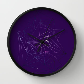 Shapes in Space Wall Clock by Kayleigh Rappaport