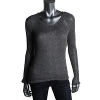 Fluxus Womens Knit Scoop Neck Pullover Sweater
