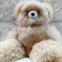New Baby alpaca teddy bear 45cm Big bear, Soft fur no allergic, Hi quality baby alpaca