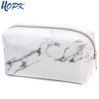 Marble Pencil Case Quality PU Leather School Supplies Bts Stationery Girls Boy Gift Pencilcase Cute Pencil Box Bts School Tools