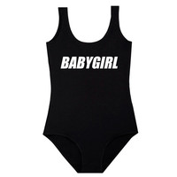 BABY GIRL BODYSUIT leotard top womens ladies girls t shirt tumblr hipster grunge retro vtg boho cute babe princess fcuk goth punk slogan