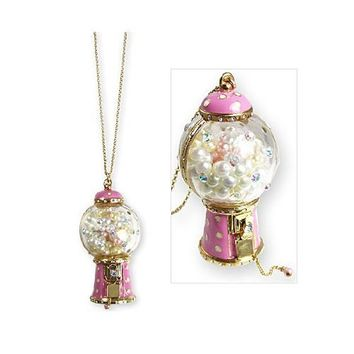 Betsey Johnson Candyland Gumball Machine Long Necklace
