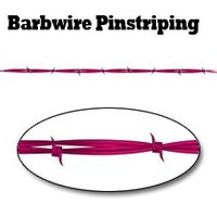 "Pink Barbwire Pinstripe Decal - 48"" L with 1 1/2"" Barbs"