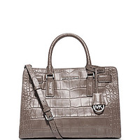 MICHAEL Michael Kors Dillon Glossy Croco Embossed Convertible Satchel
