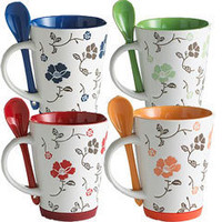Product Details - Flower Mugs with Spoons