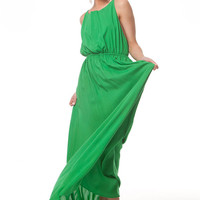 Bright Green Long Dress,Wedding Party Emerald Dress,Backless Cocktail Extra Long  Kaftan