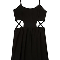 Caged Georgette Dress