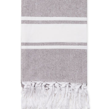Melange Home Yarn Dyed Chambray Blanket Throw - Light/Pastel Brown