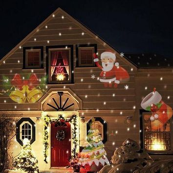 DCCKJN2 12 Types Christmas Laser Snowflake Projector Outdoor LED Lamp