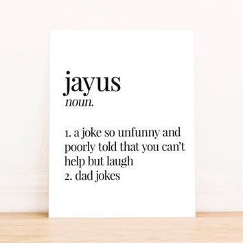 Printable Art Jayus Definition Typography Poster Home Decor Bedroom Decor