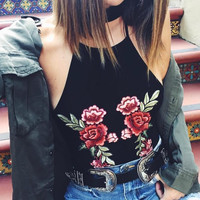 Beach Summer Hot Stylish Bralette Comfortable Sexy Spaghetti Strap Floral Vest [10199479815]