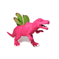 Up-cycled Dragonfruit Pink Allosaurus Dinosaur Planter