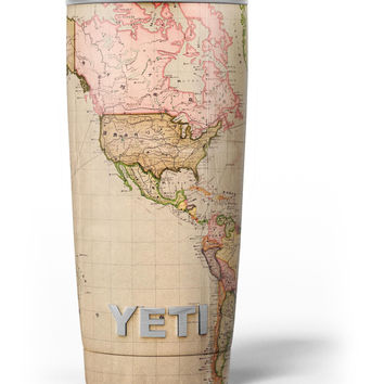 The Western World Overview Map Yeti Rambler Skin Kit