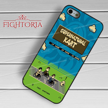 Supernatural kart game dean sam winchester -srwe for iPhone 6S case, iPhone 5s case, iPhone 6 case, iPhone 4S, Samsung S6 Edge