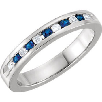 1/4 CTW Diamond Classic Channel Set Anniversary Band