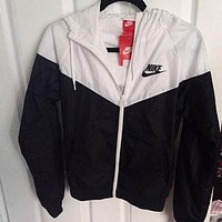 Nike men and women tide jacket hooded zipper cardigan sweater jacket stylish sportswear F