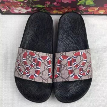 Gucci GG Snake Slides Slippers