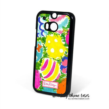 Easter Wallpaper - Lilly Pulitzer HTC One M8 Case Cover for M9 M8 One X Case