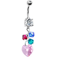 Handcrafted Personalized Mother and Child Belly Ring MADE WITH SWAROVSKI ELEMENTS | Body Candy Body Jewelry