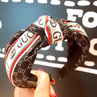 GUCCI tide brand female section letter knotted ribbon changeable hairpin hairpin