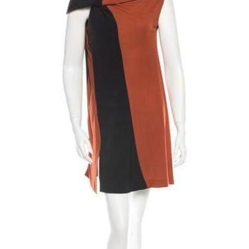 ONETOW balenciaga colorblock dress 2