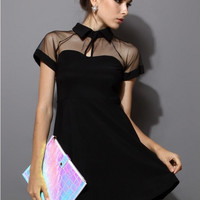 CHIFFON STITCHING DRESS