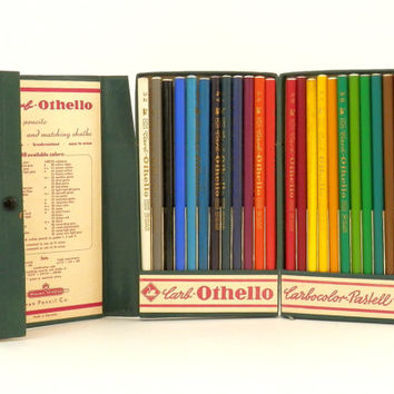 German Colored Pastel Pencils Set by Carbothello Antique Art Supplies