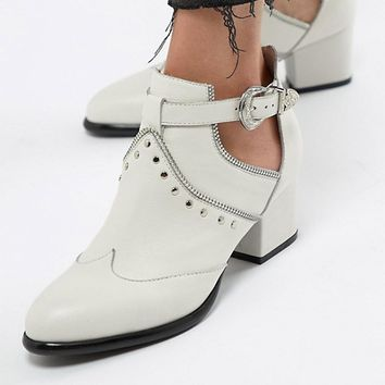 Sofie Schnoor western studded white boots at asos.com