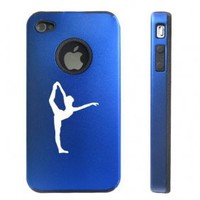Apple iPhone 4 4S Blue D5003 Aluminum & Silicone Case Cover Dancer Gymnastics