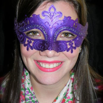 Purple Capri Masquerade Mask by TheCraftyChemist07 on Etsy