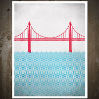 San Francisco Golden Gate Bridge, Print Poster