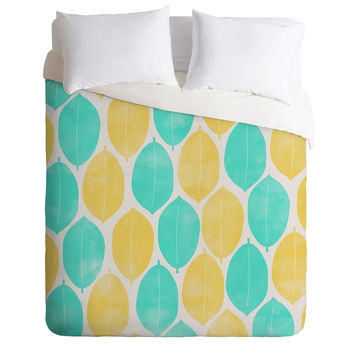 Allyson Johnson Summer Leaves Duvet Cover