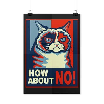 Grumpy Cat Poster How About No Grumpy Cat Poster
