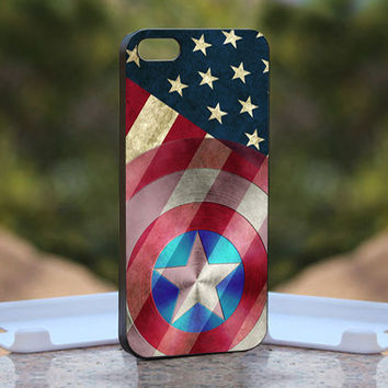 Captain America Flag  - Design available for iPhone 4 / 4S and iPhone 5 Case - black, white and clear cases