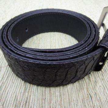 Python Leather Men Belt Black Leather Belt by mrhanz on Etsy