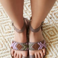 Free People Torrence Stitch Flat Sandal