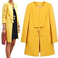 *online exclusive* wool overcoat with bow (multiple colors available)