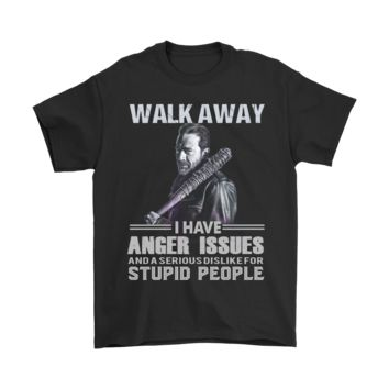 ESB8HB Walk Away I Have Anger Issues The Walking Dead Shirts